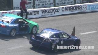 Mazda Rx8 vs S15 Silvia drifting @ Wall, NJ