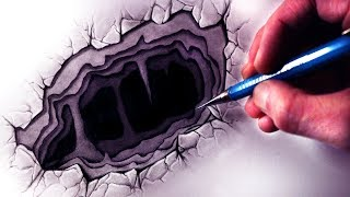Drawing a 3D Hole - ILLUSION ART