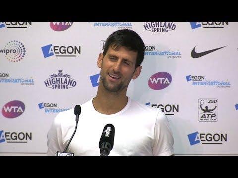 Novak Djokovic Press Conference After Reaching Aegon International Final