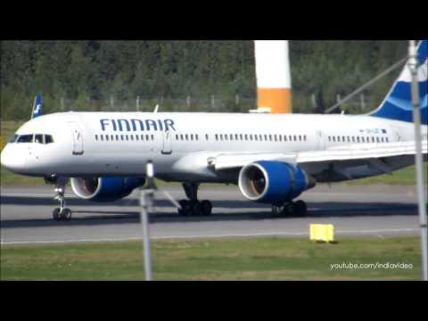 Finnair Boeing 757-200 Landing at Helsinki Airport