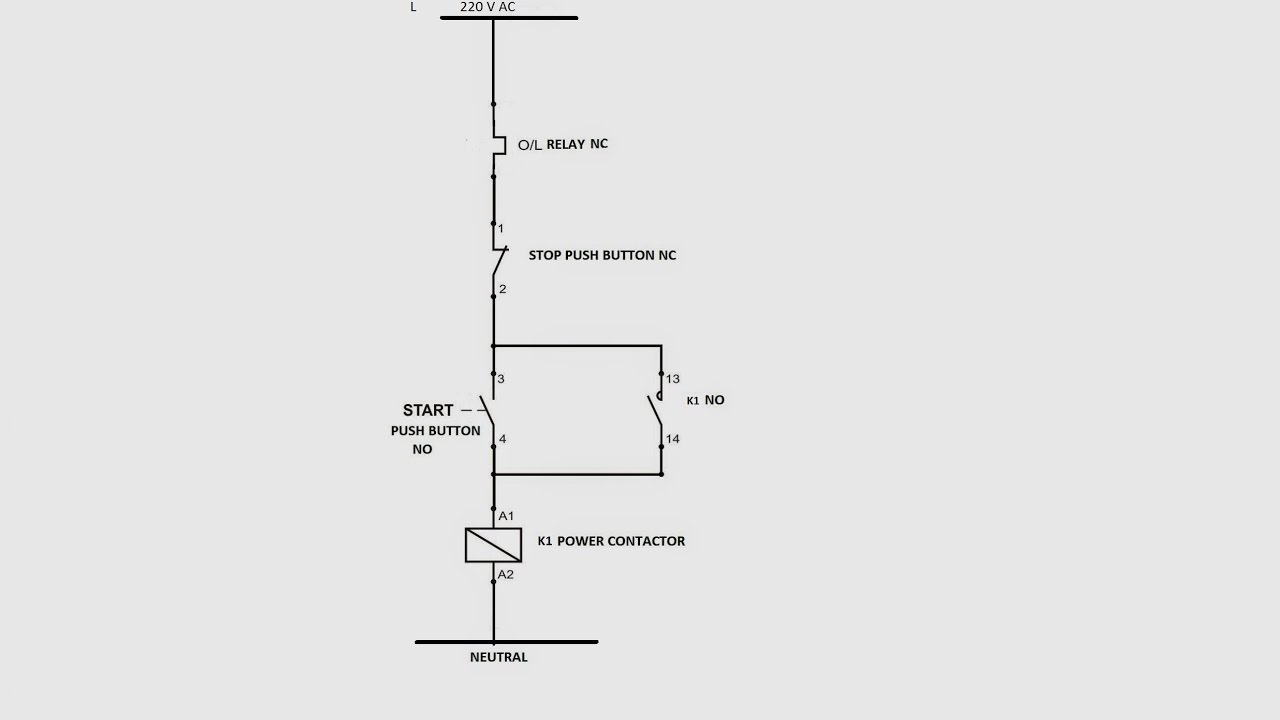 Wiring Diagram Of A Single Phase Dol Starter 2002 Dodge Trailer How To Make Control Circuit Direct On Line Youtube