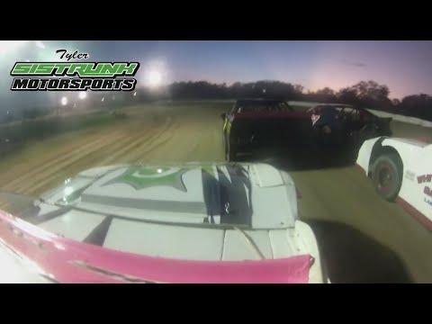 Tyler Sistrunk Motorsports - North Florida Speedway - Heat Race Win - Roof Cam - 10-14-2017