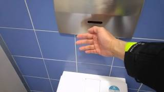 Self cleaning toilet in Germany