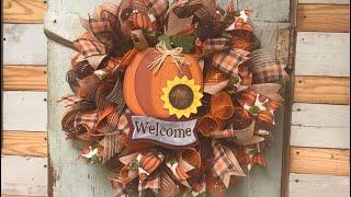 Fall wreath tutorial Easy Easy one too!