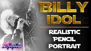 """Billy Idol 1985 """"Vital Idol"""" Drawing"""