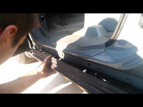 2001 Honda Odyssey side skirt install