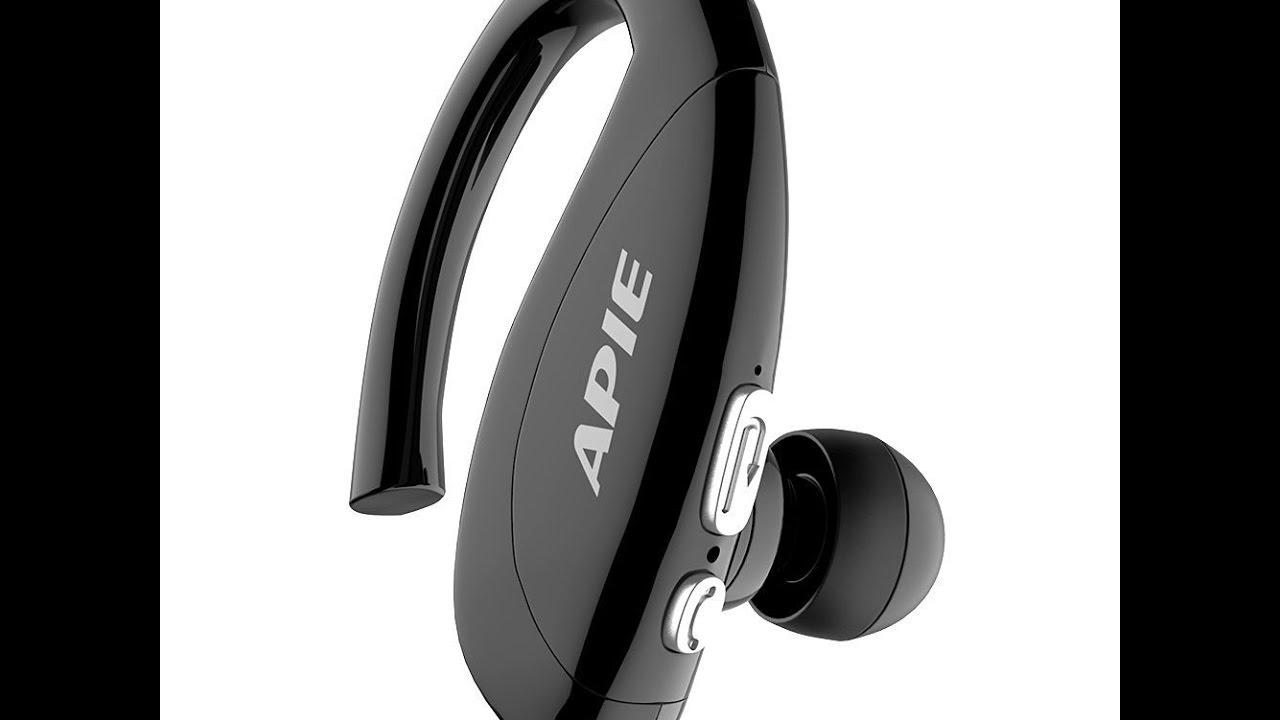 a13022e898a APIE Bluetooth Wireless Headset Ear Hooks Earphones - YouTube