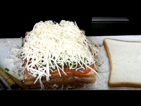 Best Veg. Cheese Grill Sandwich in India - Mumbai Street Food Recipe