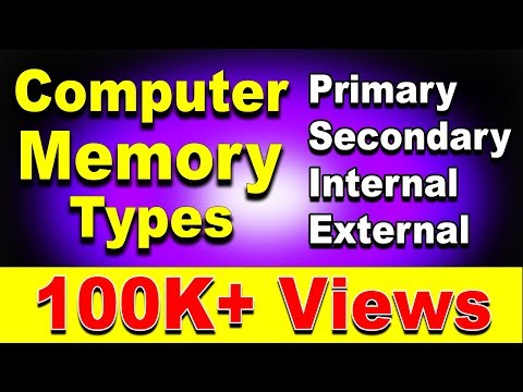 Different Types of Computer Memory Explained ft. Primary, Secondary, Internal, External, Cache, RAM