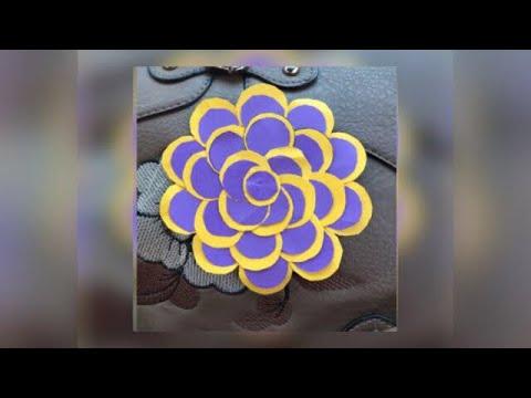 DIY paper flower / easy craft / simple flower for kids and beginners / zaana-22