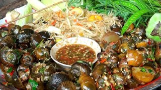 ແຈ່ວລາດກະເພົາຫອຍຕຳບັກຫຸ່ງ แจ่วลาดกระเพาหอยตำบักหุ่ง ແຈ່ວລາດກະເພົາ - ບົວໄລ,บัวไล