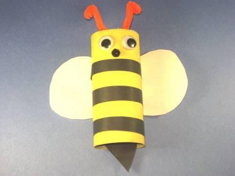 Worksheet. Como hacer una abejita con un tubo de papel de bao