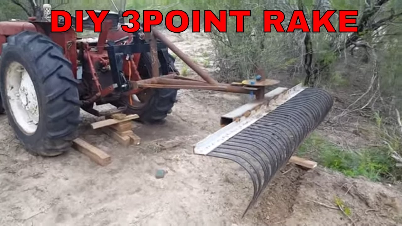 diy tractor rake part 3 international 3 point landscape youtube