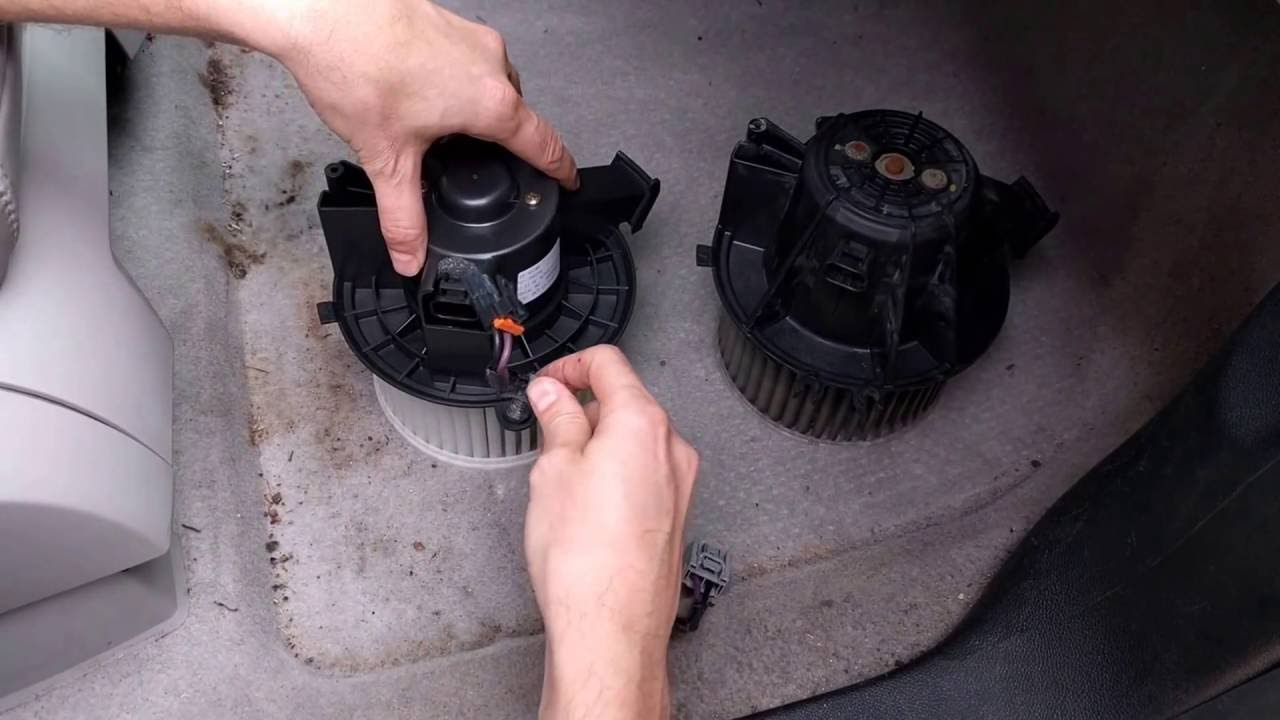 Replacing AC Blower Motor on GMC Acadia - YouTube