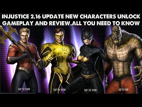 INJUSTICE Gods Among Us 2.16 UPDATE.New Characters unlock ang gameplay reviews|WATCH