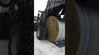 Is this the biggest round baler in the world (further footage)?