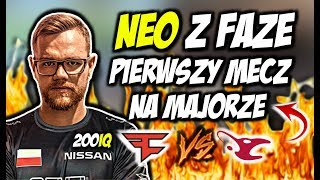 NEO PIERWSZY MECZ NA MAJORZE!!! RAIN ON FIRE, PROFESOR NEO, FAZE VS MOUZ - CSGO BEST MOMENTS