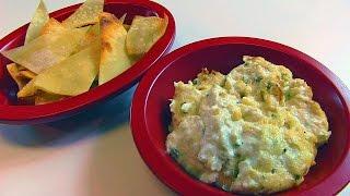 Bettys Hot Crab Dip and Wonton Chips