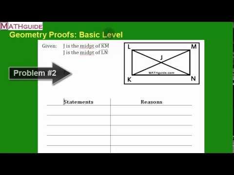 Geometry Proofs: Basic Level