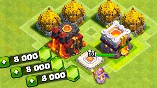 GEMANDO CV 11 E NOVO HERÓI DO CLASH OF CLANS !