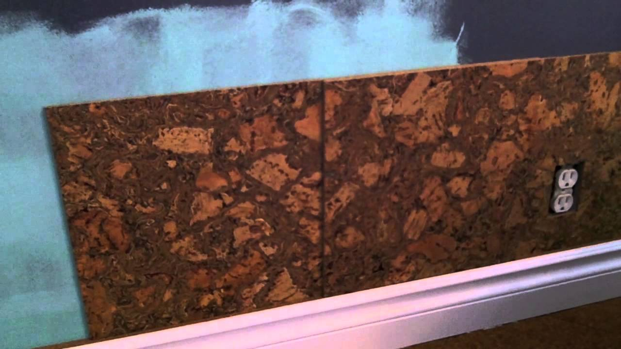 Cork Wall Tile Installation How To YouTube