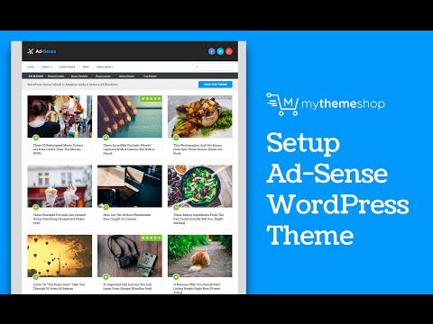 Ad-Sense Premium WordPress Theme Setup Tutorial