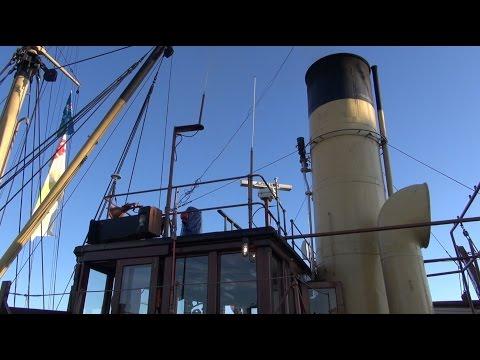 Tonnenleger SS Bussard steam whistle steam engine
