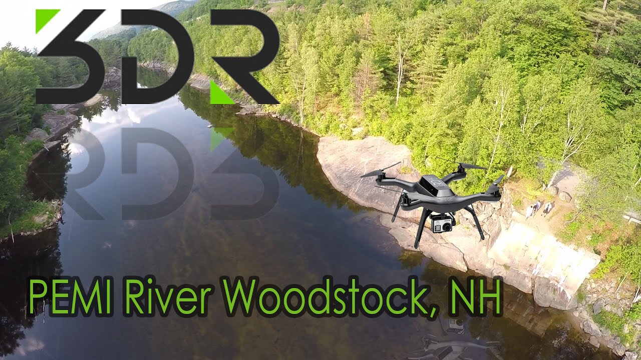 3DR Solo footage of Pemi River Lincoln & Woodstock New Hampshire - White  Mountains