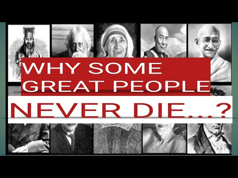 great people never die