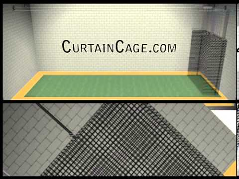 indoor batting cage kit sliding batting cages curtaincage with
