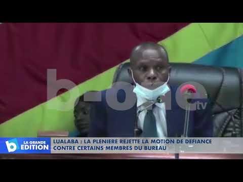 Lualaba: La plénière rejette la motion de défiance contre certains membres du bureau