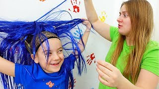 Ulya and Long Hair funny video for kids