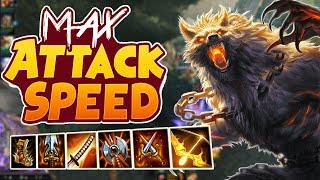 Smite: Fenrir Max Attack Speed Build - YOU CAN'T ESCAPE ME!