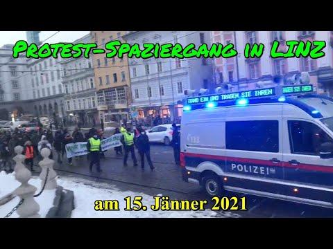 Re-Upload: PROTEST-SPAZIERGANG in LINZ am 15. Jänner 2021