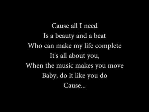 Beauty And A Beat Lyrics - Alex Goot and Chrissy Costanza