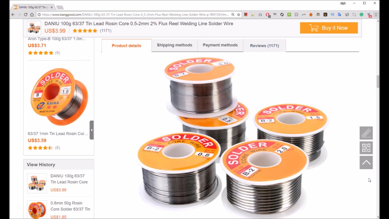 DANIU 100g 63//37 Tin Lead Rosin Core 0.5-2mm 2/% Flux Reel Welding Line Solder