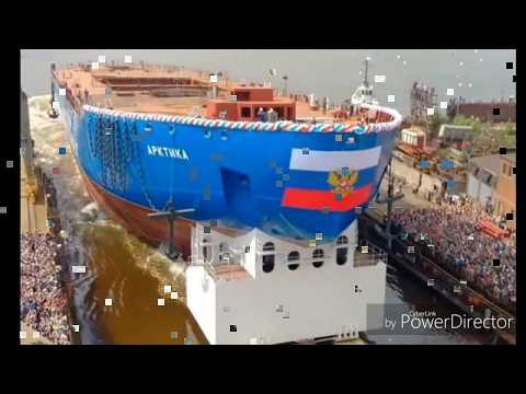 Russia launches world's biggest and most powerful nuclear icebreaker ship.