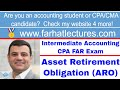 Asset Retirement Obligation (ARO) | Intermediate Accounting | CPA Exam FAR | Chp 13