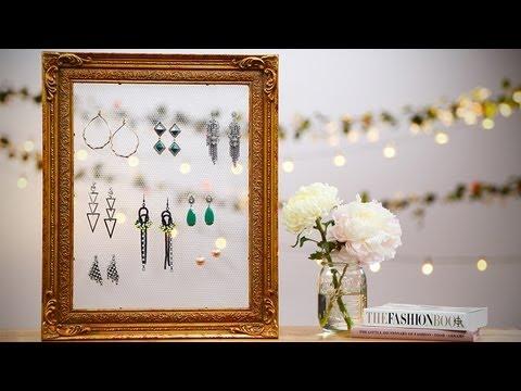 Diy Fashion Vintage Frame Earring Holder Designer Diy