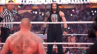 Roman Reigns vs Brock Lesnar - Wrestlemania 31 Full Match HD