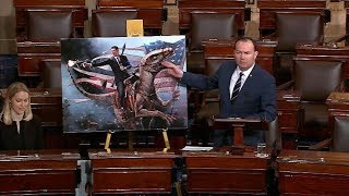 Mike Lee makes fun of the Green New Deal using Reagan on a dinosaur, Star Wars and Sharknado