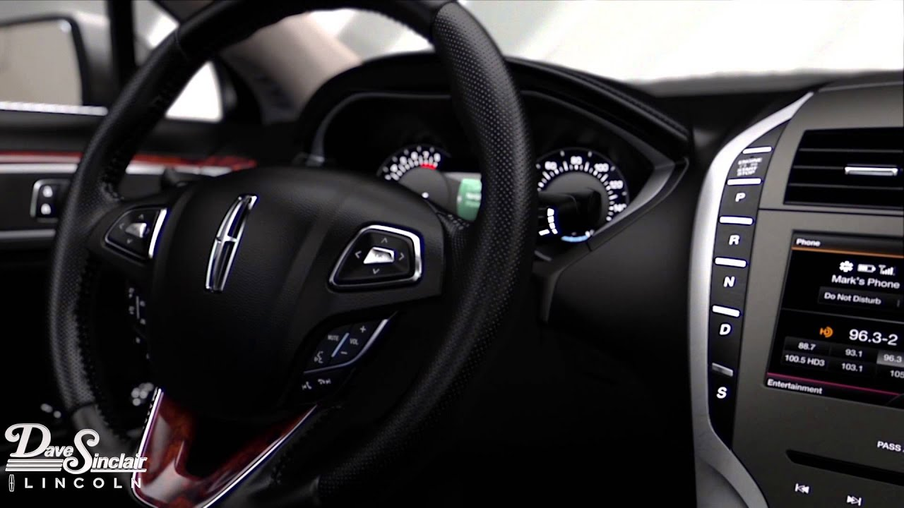 2015 Lincoln MKZ Comfortable And Luxurious Interior At Dave Sinclair Lincoln