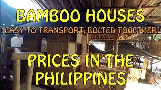 Bamboo Houses, Prices In The Philippines. Nov 2019