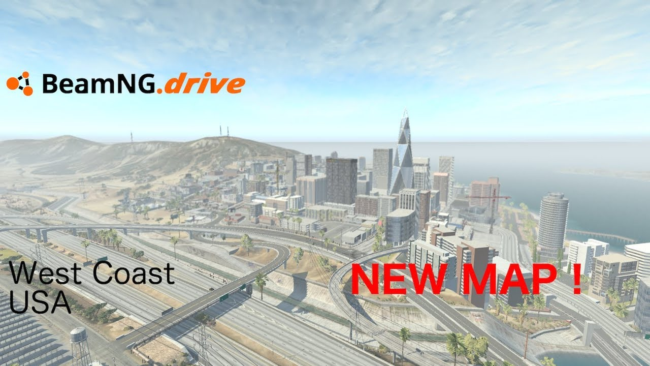 NEW MAP ! West Coast USA | Update 0.11 | BeamNG.drive - YouTube