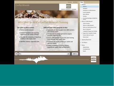 AEM's Conflict Minerals Webinar