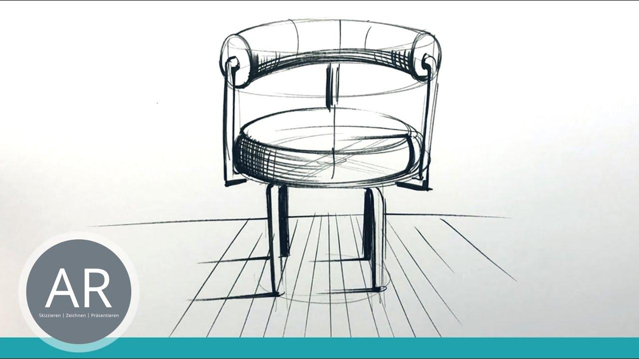 Schnell und einfach Möbel zeichnen lernen. Mappenvorbereitungkurs    Innenarchitektur Studium München