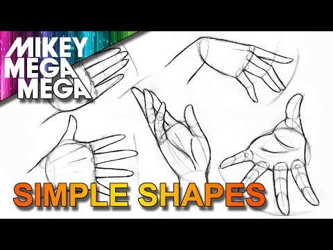 How To Draw HANDS - EASY SIMPLE BASIC SHAPES IN ANIME MANGA