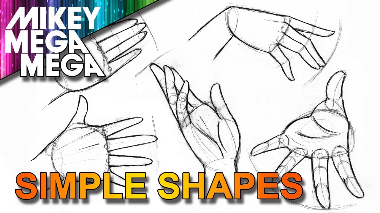How to draw hands easy simple basic shapes in anime manga youtube