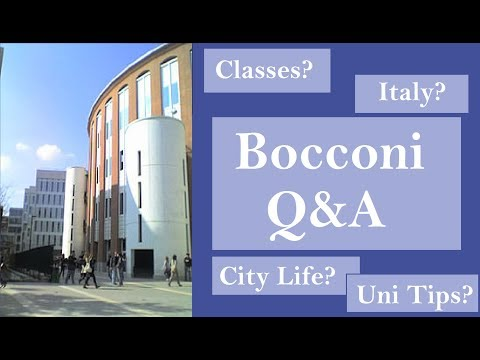 BOCCONI Questions Answered! Italy, University, etc. || miLAno