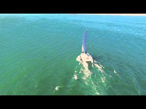 Xquisite Yachts X5 SAIL Cape Town drone video